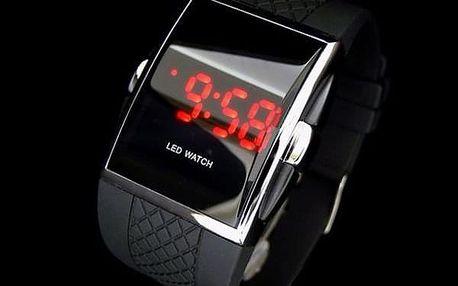 Digitální hodinky se silikonovým páskem - černá - dodání do 2 dnů