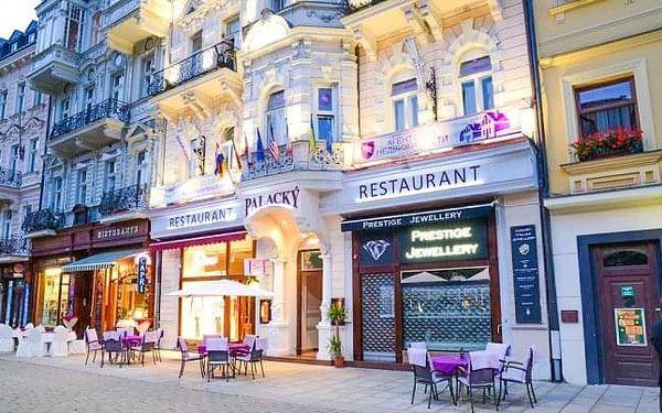 Karlovy Vary: Hotel Palacký **** přímo v centru s polopenzí a vstupem do lázní
