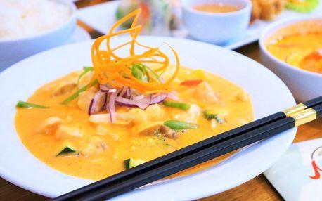4chodové menu pro 1 či 2 ve vietnamské restauraci