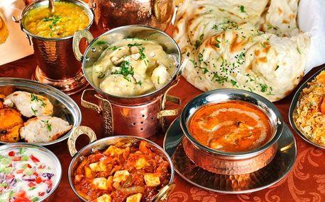Voucher do indické restaurace v hodnotě 700 Kč