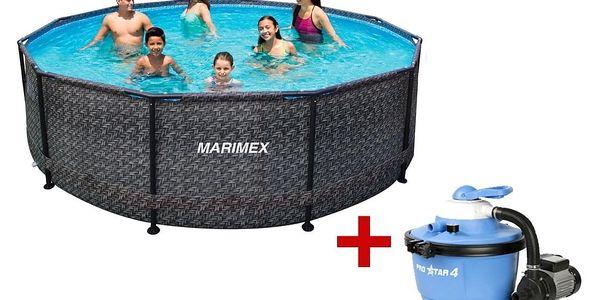 Marimex   Bazén Florida 3,66x0,99 m - motiv RATAN s pískovou filtrací   19900076