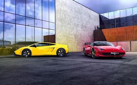 Souboj titánů: Lamborghini vs. Ferrari na Moravě - až 30 minut v obou autech
