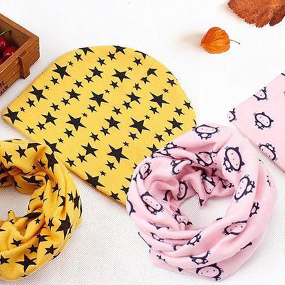 Podzimní čepičky a nákrčníky pro děti do 3 let
