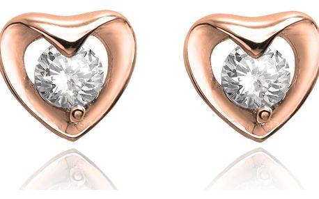 Fashion Icon Náušnice pecky srdce s krystalem