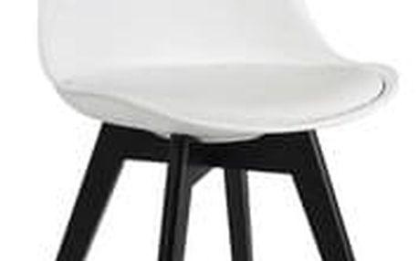 Židle KRIS II černá/bílá