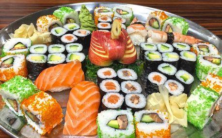 24–52 ks sushi: vege, s lososem i krevetami