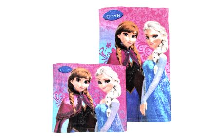 Disney Bavlněný ručník na obličej + ručník na ruce Ledové království (Frozen)