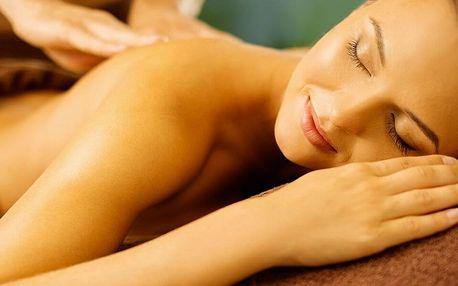 Masáž zad a šíje, dolních končetin nebo masáž vč. baňkování