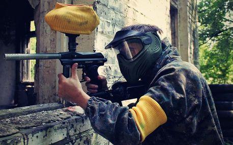 4 hodiny paintballu v bývalé ruské základně v Milovicích