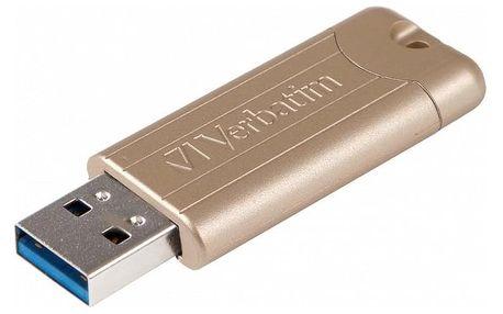 Verbatim Store 'n' Go PinStripe 64GB zlatý (48010)