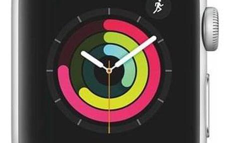 Apple Watch Series 3 GPS 38mm pouzdro ze stříbrného hliníku - bílý sportovní řemínek (MTEY2CN/A)