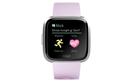 Fitbit Versa Lite - Lilac Band / Silver case (FB415SRLV)