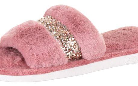 Dámské domácí papuče s flitry