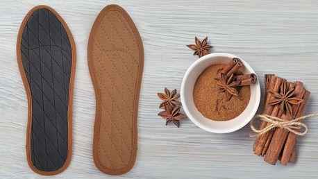 Skořicové vložky do bot z přírodních materiálů