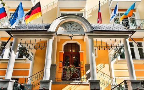 Villa Savoy v Mariánských Lázních s procedurami a plnou penzí