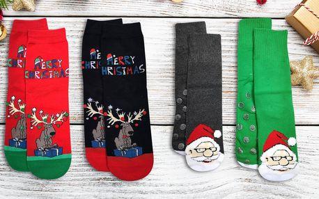 Dámské vánoční ponožky s protiskluzovou úpravou