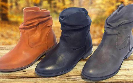 Dámské kotníkové boty: černé, hnědé i šedé