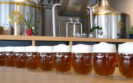 Metr piv v Havířovském minipivovaru