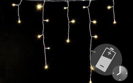 Nexos 41714 Vánoční světelný déšť 144 LED teple bílá - 5 m s časovačem
