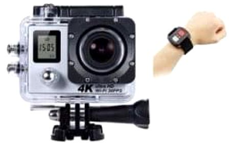 Kamera sports wifi s ovladačem a dvěma displeji