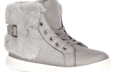 Fashion world Dámské zimní tenisky s kožichem a zipem 36-42