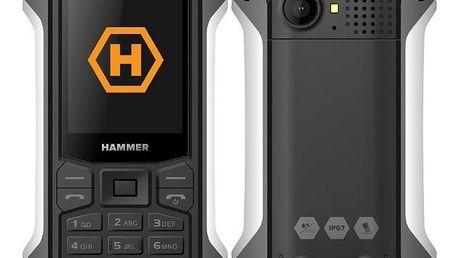Mobilní telefon myPhone Hammer Patriot černý/stříbrný (TELMYHPATRIOTSI)