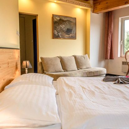Hotel Bečva v Beskydech s polopenzí a infrasaunou