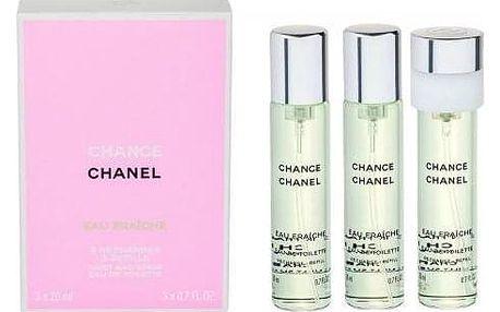 Chanel Chance Eau Fraîche 3x20 ml toaletní voda Náplň pro ženy miniatura