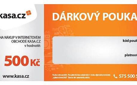 Dárkový poukaz Kasa.cz 500 Kč