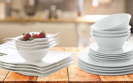 Jídelní sady Maxwell & Williams bílé i s dekorem