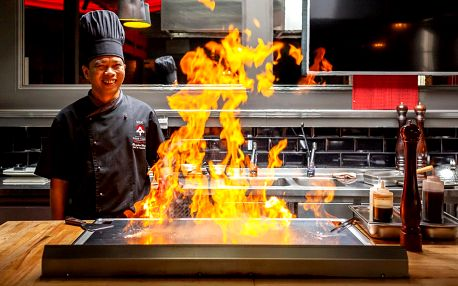 Teppanyaki menu připravené před vašimi zraky