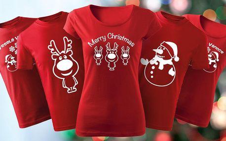 Vánoční trika se soby i sněhuláky pro celou rodinu