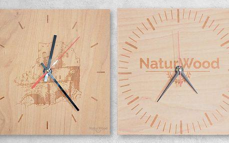 Dřevěné nástěnné hodiny s vlastním obrázkem