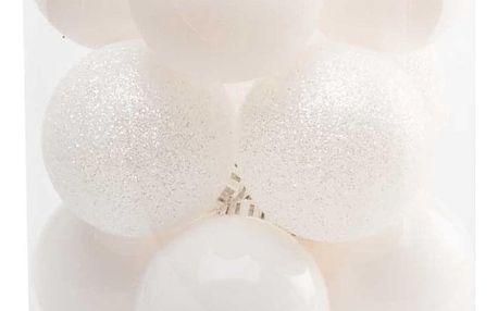 | Vánoční koule 6 cm - bílý set | 18000382