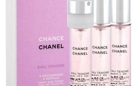 Chanel Chance Eau Tendre 3x 20 ml 20 ml toaletní voda Náplň pro ženy