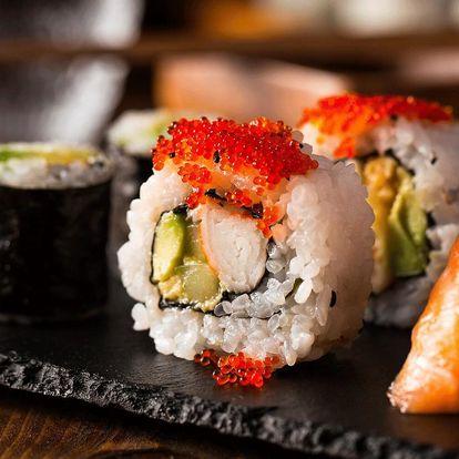Obědové sushi: 9 kousků s misoshiru polévkou