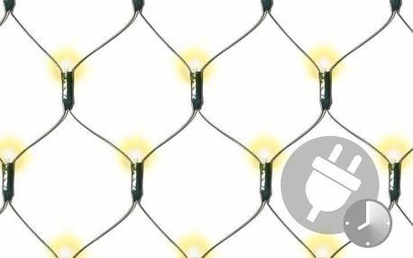 Nexos 68067 Vánoční LED světelná síť - 1,8 x 2,3 m, 320 diod, teple bílá