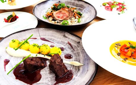 5chodové novoroční menu v luxusní restauraci