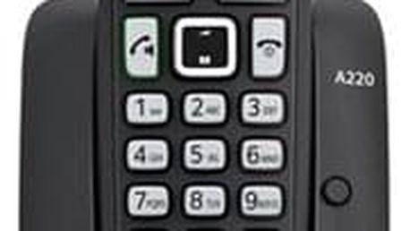 Domácí telefon Siemens Gigaset A220 černý (S30852-H2411-R601)