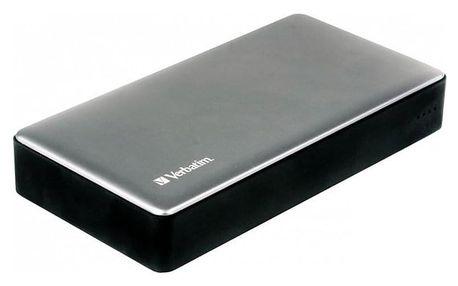 Verbatim 20000 mAh, USB-C PD, QC 3.0 stříbrná (49577)