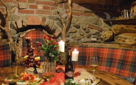 Romantický pobyt na 1 noc v pekle Čertovina s večeří a vířivkou pro 2 osoby