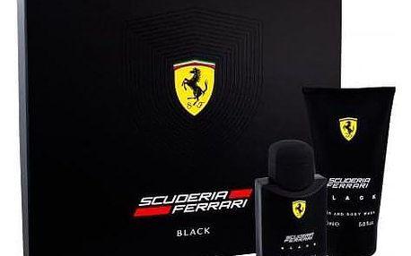 Ferrari Scuderia Ferrari Black dárková kazeta pro muže toaletní voda 75 ml + sprchový gel 150 ml