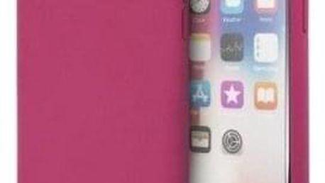 Kryt na mobil Guess Silicone Cover pro Apple iPhone X/XS - tmavě růžový (GUHCPXLSGLPI)