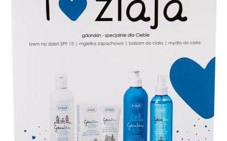 Ziaja GdanSkin dárková kazeta proti vráskám pro ženy denní pleťová péče SPF15 50 ml + tělový balzám 300 ml + glycerínové mýdlo 300 ml + hydratační mlha 200 ml