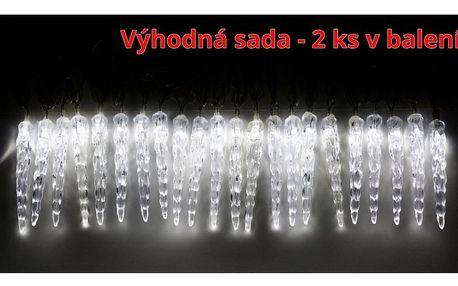 Marimex   Světelné mini rampouchy 40 LED - studená bílá - sada 2 ks   19900058