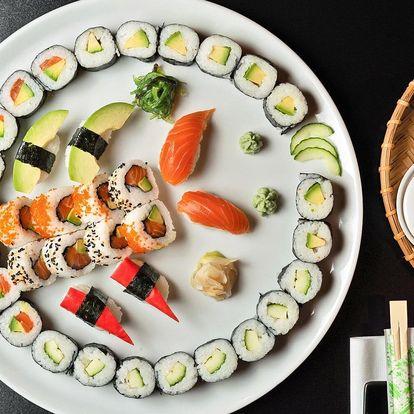 Sushi sety s lososem, úhořem, tuňákem i avokádem