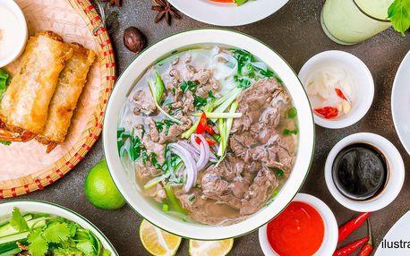 Tří- nebo čtyřchodové asijské menu pro jednoho