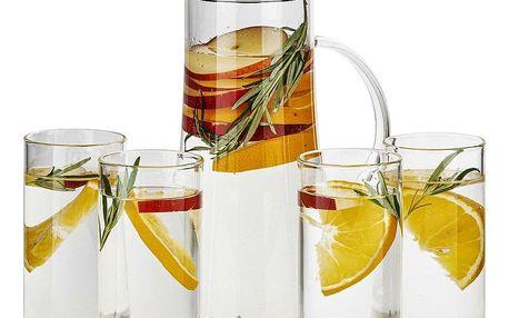 4Home Sada džbánu a 4 sklenic Summer Hot&Cool