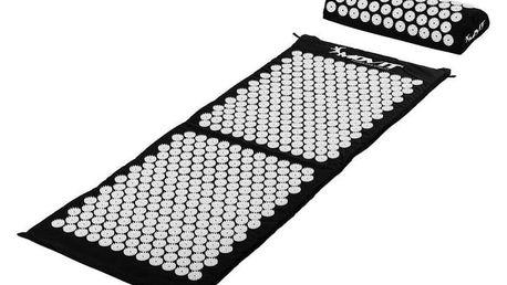 Movit akupresurní podložka s polštářem 130 x 50 cm černá