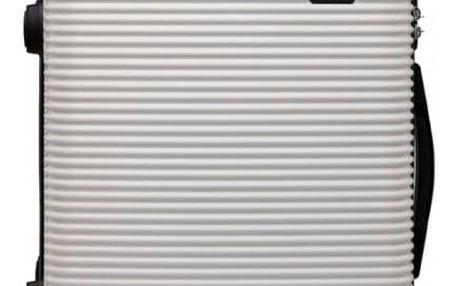 Cestovní střední bílý kufr na kolečkách Travel 6676